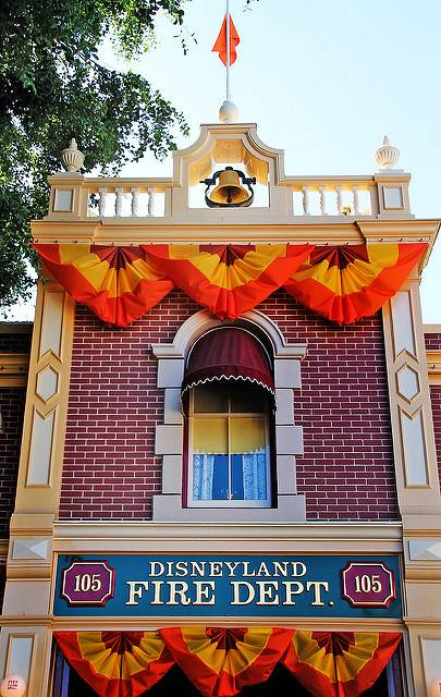Walt Disney's apartment above the firehouse