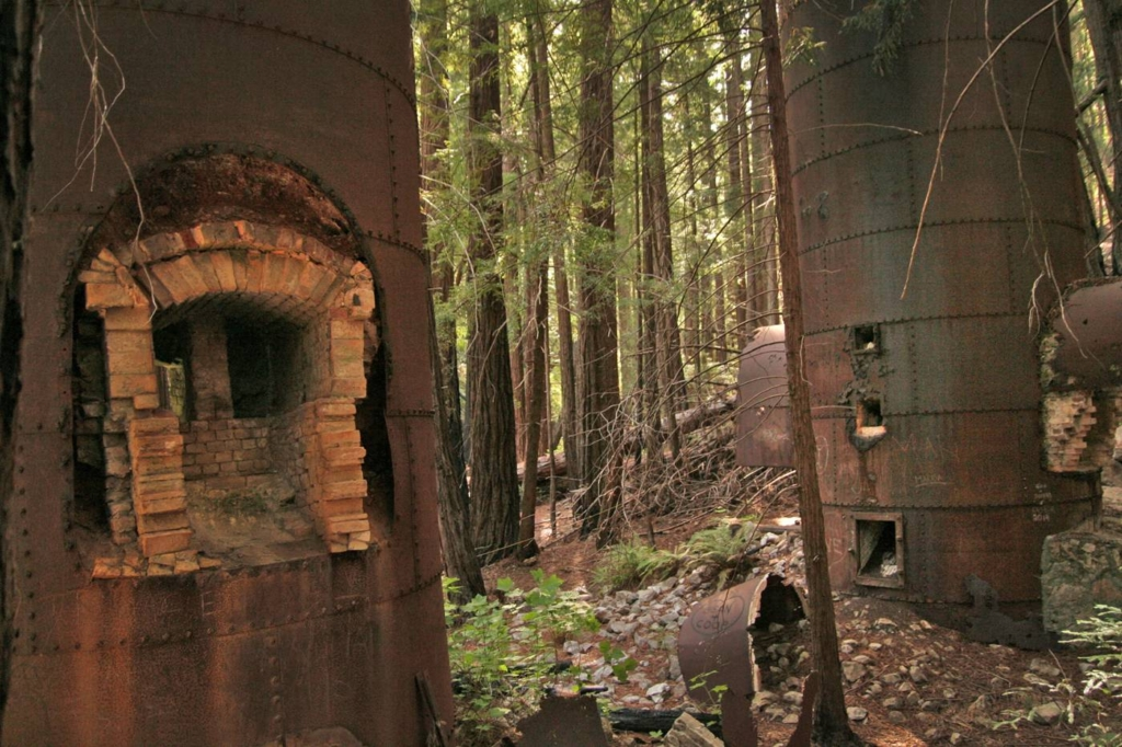 The limekilns in Big Sur were used to produce limestone in the early 1900's. Today you can hike to these monumental structures in the deep woods.