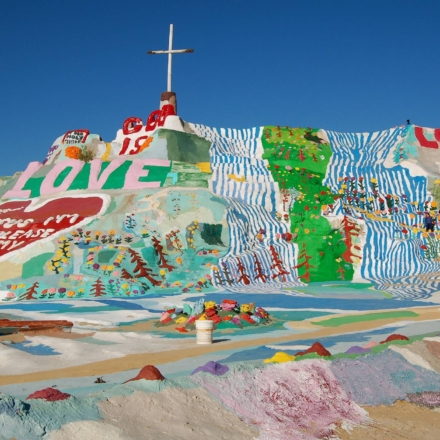 Salvation Mountain located near the Salton Sea is a colorful wonderland washed with love