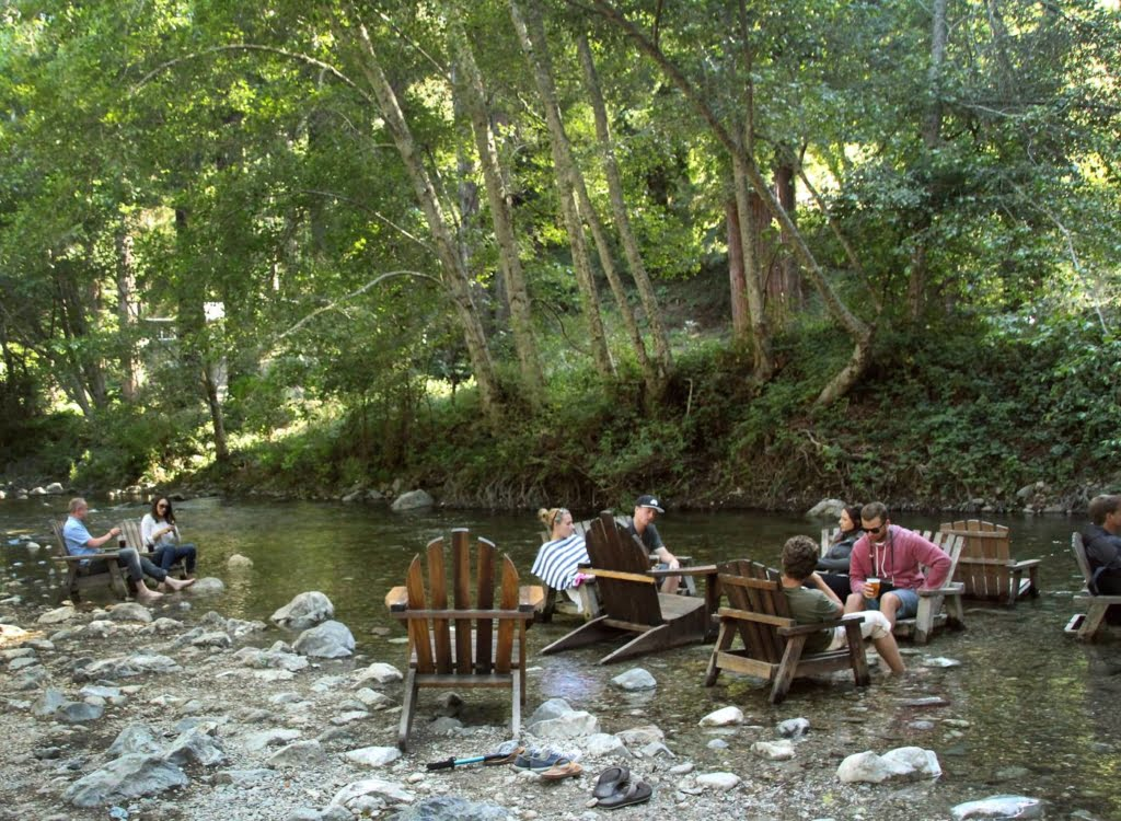 Dine in a river bed at the River Inn in the heart of Big Sur