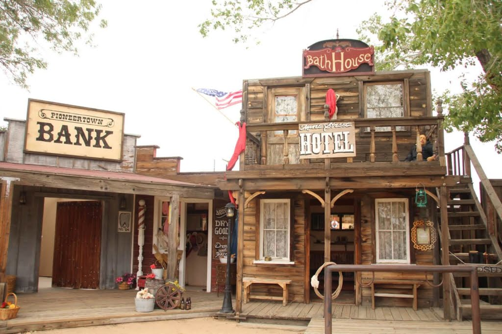 Built in the 1940's, Pioneertown was originally created with the purpose of being a live-in Old West motion-picture set.