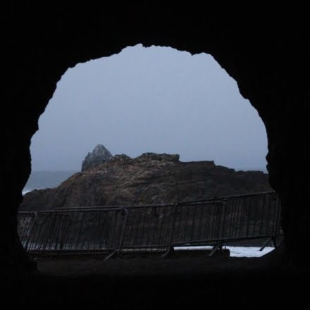 The now abandoned Sutro Baths was a large, privately owned public saltwater swimming pool complex in San Francisco that crumbled after an earthquake.
