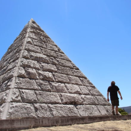 The Dorn Pyramid has towered over the Oddfellows Cemetery for over 100 years now as a masonic symbol for the remains of a mother and child.