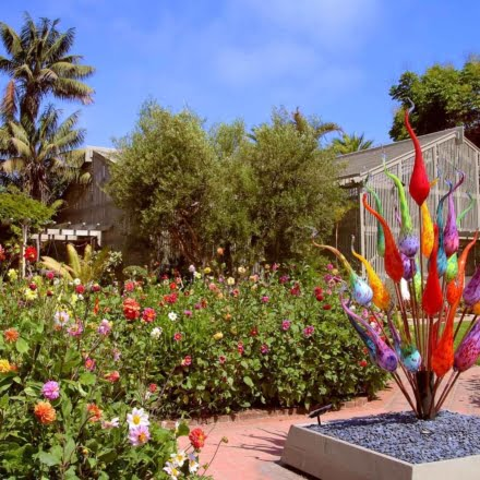 Serene botanical garden with patios, conservatories & walkways, plus a research library & cafe. Sherman Gardens in Corona del Mar.