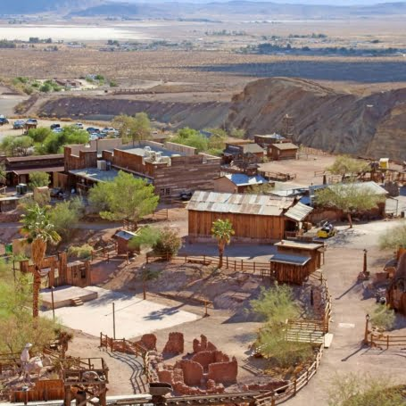 Calico Ghost Town is located in the Mojave Desert, It was founded in 1881 as a silver mining town, and today has been converted into a county park.